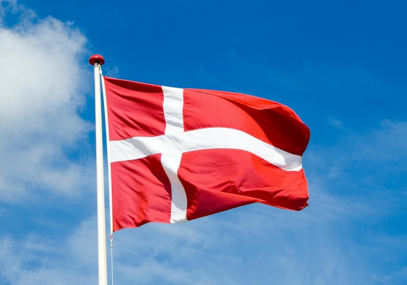 Bandiera Danimarca toppe bandiere